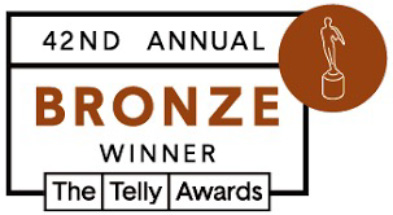Stokes is a bronze winner at the 42nd annual Telly Awards