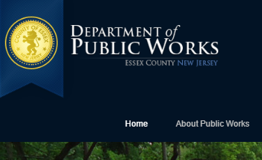 Essex County of NJ Department of Public Works Website