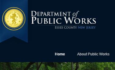 Essex County of NJ Department of Public Works Website