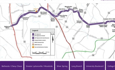 Purple Line Light Rail Construction Project