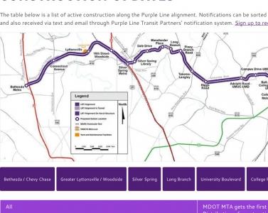 Purple Line Light Rail Construction Project